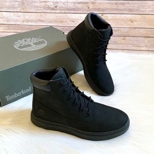 """Timberland Black Londyn 6"""" Lace Up Sneaker Boots"""